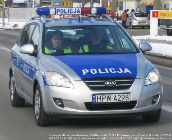 Policja Piotrków Trybunalski: Czujni policjanci zatrzymali sprawcę usiłowania włamania do sklepu